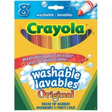 Crayola Washable Markers, Broad, 8 per package --CYO56-7908