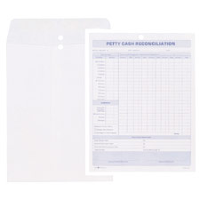 petty cash reconciliation envelope 8 1 2 x11 white top3210