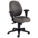 Mid-Back Posture Control Task Chair allows you to customize comfort settings. Features pneumatic seat-height adjustment, back height adjustment, swivel, tilt, tilt tension, tilt lock, and posture mechanism. Also features a shoulder-height recess which cradles upper spine and deeply contoured curvilinear back with pronounced lumbar support for all-day comfort. Shoulder height recess with integral headrest to cradle upper spine. Wave-formed seat provides a natural settling in place. Adjustable height arms with super soft arm pads. Fully upholstered outer back. Five star base with dual wheel, hooded casters. Available in black frame only.