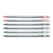Triplus Gel-Liner Sets feature slim, lightweight, ergonomic triangular-shaped barrels that rest comfortably in hand for hours of fatigue-free writing. Classic colours include red, blue, green, violet, black and pink. Decor colours include white, silver, gold, metallic blue, metallic green and metallic red.